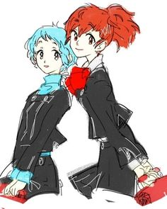 Minako and Fuuka