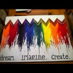 Melted Crayon Art :)