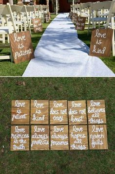 Stunning hand-painted wood wedding ceremony signs wedding party signal thoughts handmade product lumber decorated like Wedding Ceremony Ideas, Ceremony Signs, Wedding Sign In Ideas, Different Wedding Ideas, Wedding Venues, Bridal Planner, Wedding Planner, Wood Wedding Signs, Rustic Wedding