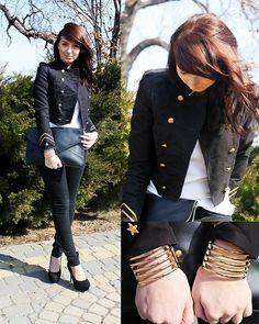 military fashion.