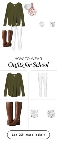 """School outfit"" by nawerbs on Polyvore featuring мода, French Connection и Bandolino"