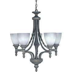 @Overstock - A pumice stone finish highlights this elegant Nottingham 5-light chandelier. This light fixture features grey mist glass shades.http://www.overstock.com/Home-Garden/Nottingham-5-light-Pumice-Stone-Chandelier/5616134/product.html?CID=214117 $161.99