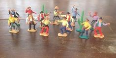 Timpo collection of Cowboys Figures 1970s Guns Rare Vintage Timpo Toys • £21.00