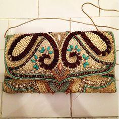 #Beads #purse with gold chain strap $78 #CutieRoom#Bag#vintage#VintagePurse#BeadsPurse#Nyc#CutiePatroller