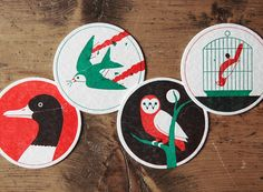 Adorable letterpressed coasters.