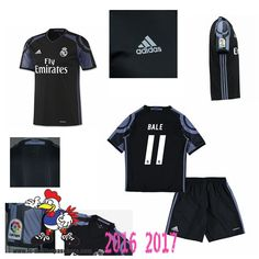 Promo Maillot Du Real Madrid Noir Enfant (BALE 11) Third 2016/2017 Thailande