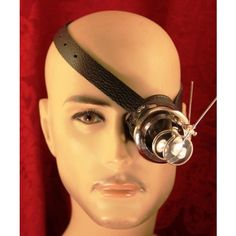 steampunk MONOCLE black and silver with MAGNIFIERS (8.560 RUB) ❤ liked on Polyvore featuring home, home decor and office accessories