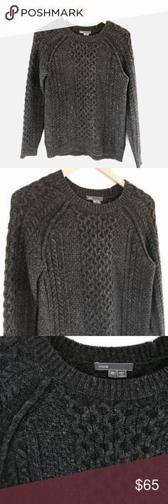 Vince cable knit sweater Super soft, merino blend sweater. Excellent condition. Fits xs-m. Vince Sweaters Crew & Scoop Necks