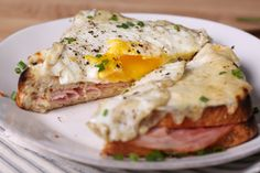 We know the name of this sandwich is lovely and fancy and French, but don't be intimidated by it! It's a breeze to whip up, and so, so, so, so impressive and delicious. That said, if this sandwich inspires you to grow a fancy curly-q mustache, wear a striped shirt, and become extra-sophisticated while...