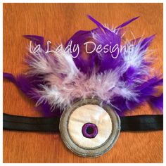 A personal favorite from my Etsy shop https://www.etsy.com/listing/251339932/minion-purple-headband-crazy-googles-and