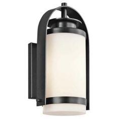 One Light Black Outdoor Wall Light   Williams Lighting Galleries