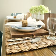 Wood Charger Plate- Set of 4- Wood Charger- Walnut