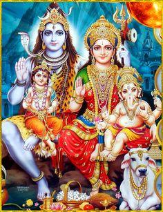 Lord Shiva is the Auspicious one (Shiva), The terrific one (Rudra), Lord of the Dance (Nataraja), Lord of the universe (Vishwanatha) Lord Shiva Pics, Lord Shiva Hd Images, Lord Shiva Family, Ganesh Images, Ganesha Pictures, Shiva Parvati Images, Shiva Hindu, Shiva Art, Krishna Images