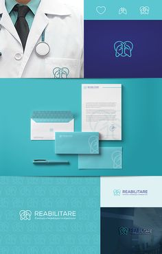 New medical branding design 58 ideas - corporate branding identity Corporate Identity Design, Brand Identity Design, Brand Design, Ci Design, Visual Identity, Clinic Logo, What Is Fashion Designing, Hospital Design, Clinic Design