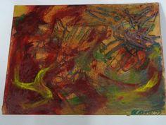 Karel Appel - Bird oil on cardboard - L.o. sign K. appel 1953