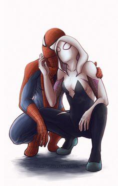 Spider-Man & Spider-Gwen by Danielle Le Cerf #SpiderVerse