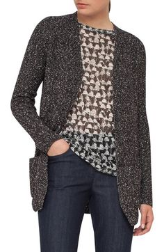 Akris Stretch Cotton Tweed Knit Cardigan available at #Nordstrom