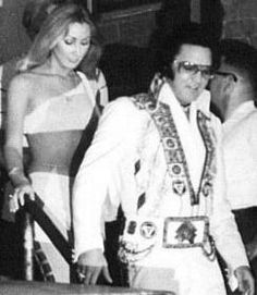 Elvis with girlfriend Linda Thompson