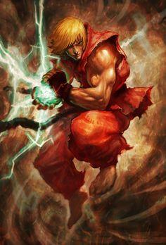 The Comic Ninja - Ken by Jinseo Lee Street Fighter Ryu, Super Street Fighter, Street Fighter Wallpaper, Snk King Of Fighters, Ken Masters, Arcade, Arte Ninja, Street Fighter Characters, World Of Warriors
