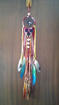 Dreamcatcher with painted feathers and crochet cords Painted Feathers, Crochet Cord, Feather Painting, Dreamcatchers, Cords, Home Decor, Ropes, Decoration Home, Room Decor