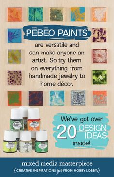 If you're tired of the same old craft projects, test out the versatility of Pébéo paints!