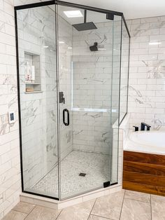 Our mid century fixer upper, master bathroom reveal! Ck out our blog post.