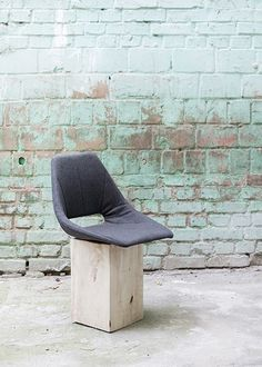 Tram chair, Sergey Makhno. I'm thinking any seat on a solid block of wood like that would be pretty cool.