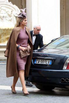 Rainha Máxima em Itália