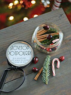 Stovetop Potpourri.  Great handmade gift idea!
