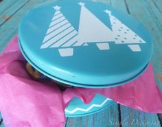 Up-Cycled Holiday Goodie Tin | Expressions Vinyl Blog
