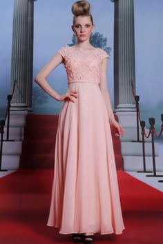 Celebrity Inspired Pink Prom Dresses With Flowers