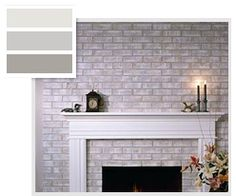 Wondering how to paint a brick fireplace? Which are the tools that you need to paint over a brick fireplace? Find all the tools that will help you paint your old brick fireplace. What is the cost of your brick fireplace makeover? Brick Fireplace Makeover, Fireplace Remodel, Fireplace Mantels, Fireplace Ideas, Fireplace Whitewash, Fireplace Update, Farmhouse Fireplace, Fireplace Wall, White Wash Brick