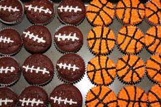 sports cupcakes maybe baseball?