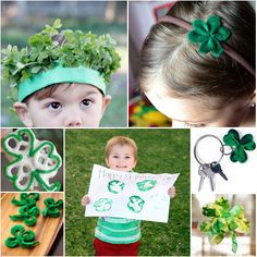 St Patrick's Day is coming! 23 Shamrock Crafts For You & The Kids | MollyMooCrafts.com for @Spoonful