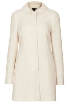 Boiled Wool Skirted Coat - Jackets & Coats  - Clothing