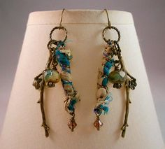 Dangling Branch Earrings by EsKayDesignsSK on Etsy, $24.00