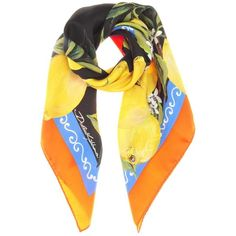 Dolce   Gabbana Printed Silk Scarf (17.890 RUB) ❤ liked on Polyvore  featuring accessories, scarves, multicoloured, pure silk scarves, colorful  shawl, ... a4b24ef5e47