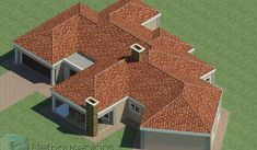 5 Bedroom Single Storey House Plan For Sale NethouseplansNethouseplans Tuscan House Plans, Ranch House Plans, Craftsman House Plans, House Floor Plans, 6 Bedroom House Plans, 4 Bedroom House Designs, Design Bedroom, House Plans For Sale, House Plans With Photos