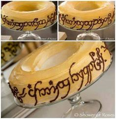 Throw a fun LOTR Hobbit party with these awesome Lord of the Rings Themed Food ideas! Over 20 Lord of The Rings Recipes to help you celebrate. Bolo Hobbit, The Hobbit, Hobbit Cake, Hobbit Party, Ring Cake, Party Rings, Crazy Cakes, Food Themes, Food Ideas