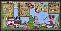 Newly listed on ebay-DT Jess  http://www.ebay.com/itm/Elite4u-Premade-Scrapbook-Layout-Happy-Campers-Page-Paper-Piecings-Outdoors-/322066733085?hash=item4afcac581d