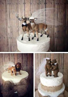 Rustic animals toppers