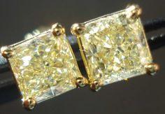 yellow diamond earrings - for my birthday please