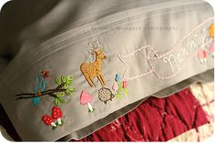 Embroidered Pillow Case posted March 26, 2008 by thompsonfamily.typepad.com