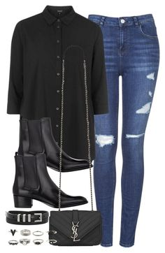 """Style #9390"" by vany-alvarado ❤ liked on Polyvore featuring Topshop and Yves Saint Laurent"