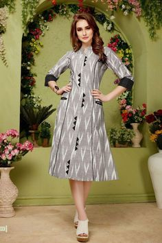 LKFABKART is a wholesale printed kurtis dealer and supplier at wholesale rates. Salwar Neck Designs, Kurta Neck Design, Kurta Designs Women, Dress Neck Designs, Long Kurta Designs, Printed Kurti Designs, Simple Kurti Designs, Cotton Kurtis Designs, Kurti Sleeves Design