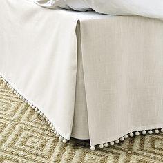 Audree Pom Pom Bedskirt - Ballard Designs