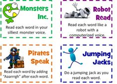 """""""In 2nd grade, we have some """"phonics charts"""" or word charts that contain rows of words that follow a phonics rule of the week.  There are about 5 words on a row and 4-5 rows on a chart.""""  Choral Chant Phonics Freebie"""