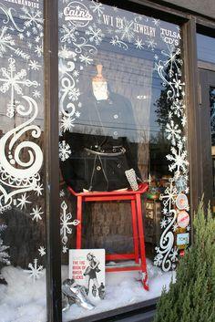 CHRISTMAS WINDOW DISPLAY!!! | Kara Paslay Design