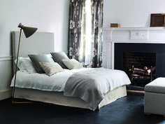 Love the new Kelso collection from Romo Fabrics. Romo Fabrics, Upholstery Fabrics, Cosy Bedroom, Bedroom Ideas, Oak Leaves, Magnolia Homes, Natural Linen, Contemporary Design, Fabric Design