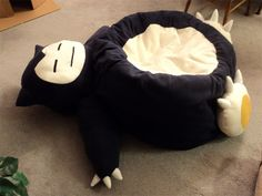 beanbag chair in the shape of a Snorlax